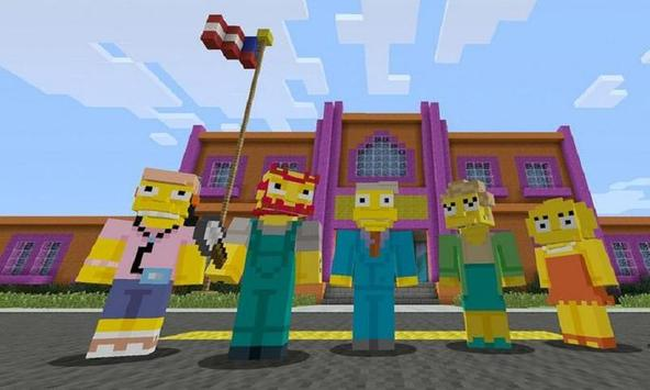 Map Simpson for MCPE poster