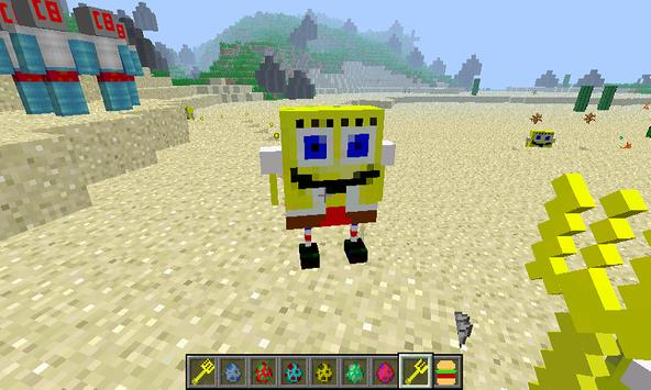 Mod SpongeBob  for MCPE poster
