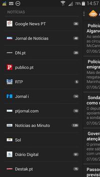 RSS Notícias Portugal apk screenshot