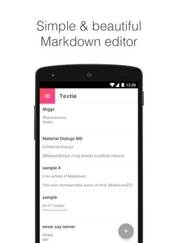 Textie Markdown Editor poster