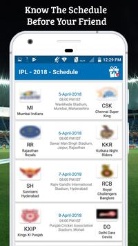 Schedule For IPL 2018 screenshot 2