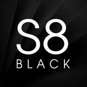 S8 Black AMOLED UX - Icon Pack icon