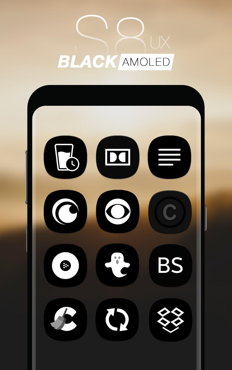 S8 Black AMOLED UX - Icon Pack for Android - APK Download
