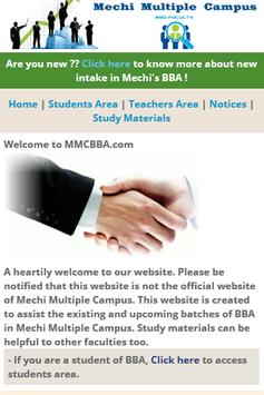 Mechi Campus BBA poster