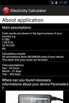 Electricity Calculator screenshot 3