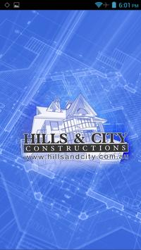 Hills and City Construction poster