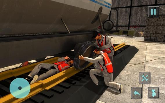 Train Mechanic Workshop Garage apk screenshot