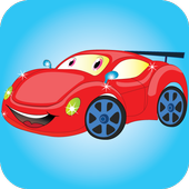 Car coloring and dress up icon