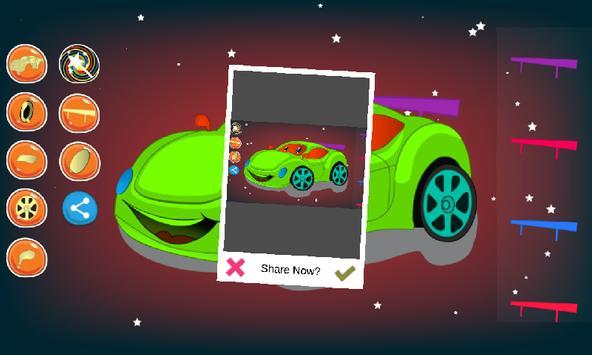 Car coloring and dress up apk screenshot