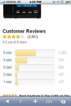 Projection Clock Radio Reviews apk screenshot
