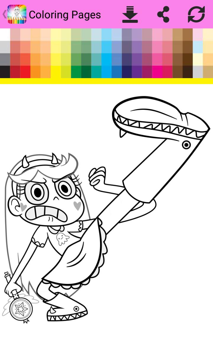 Coloring Book Star Vs Evil For Android Apk Download