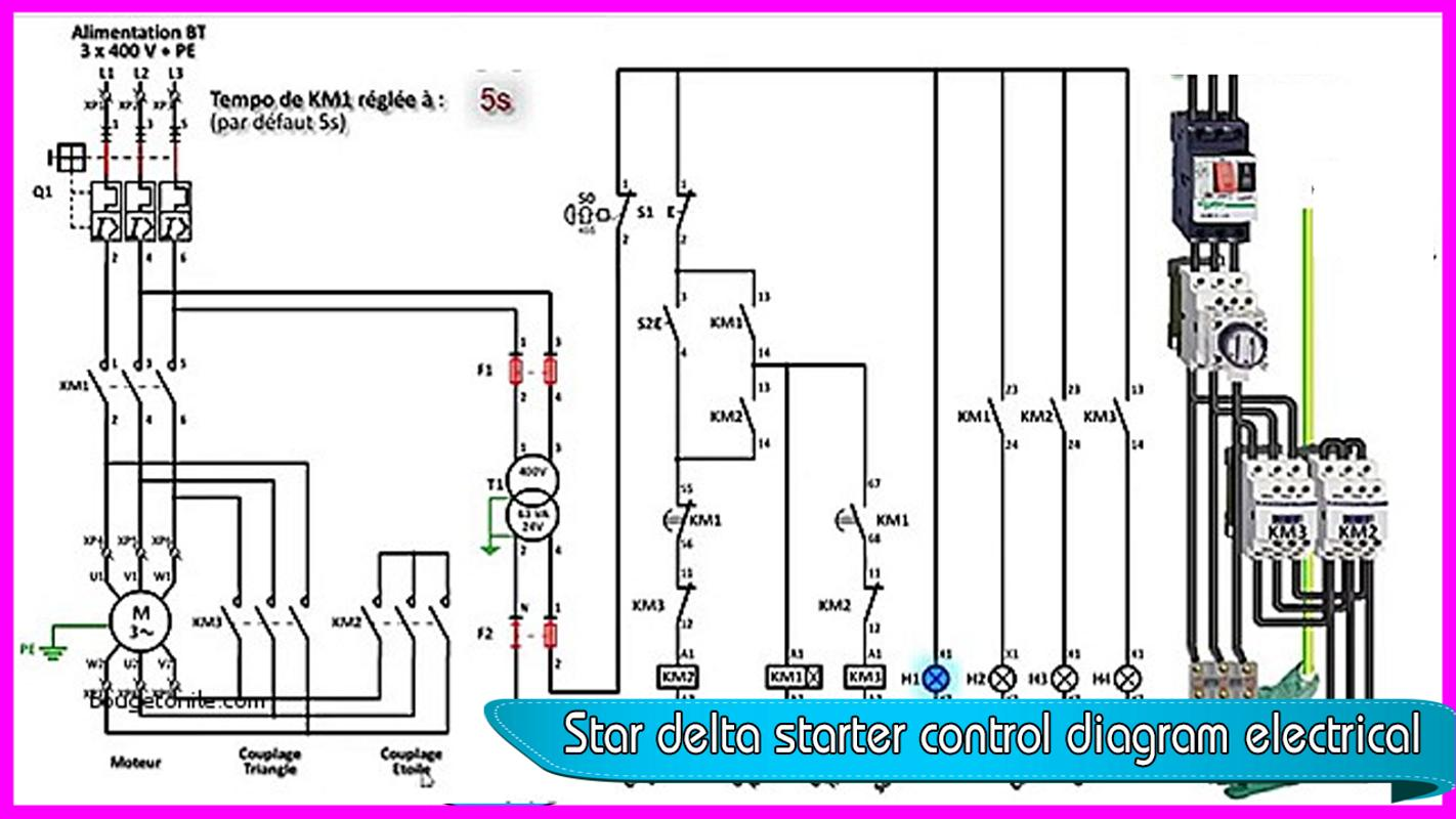 7af5664 Star Delta Starter Control Wiring Diagram With Timer Wiring Resources