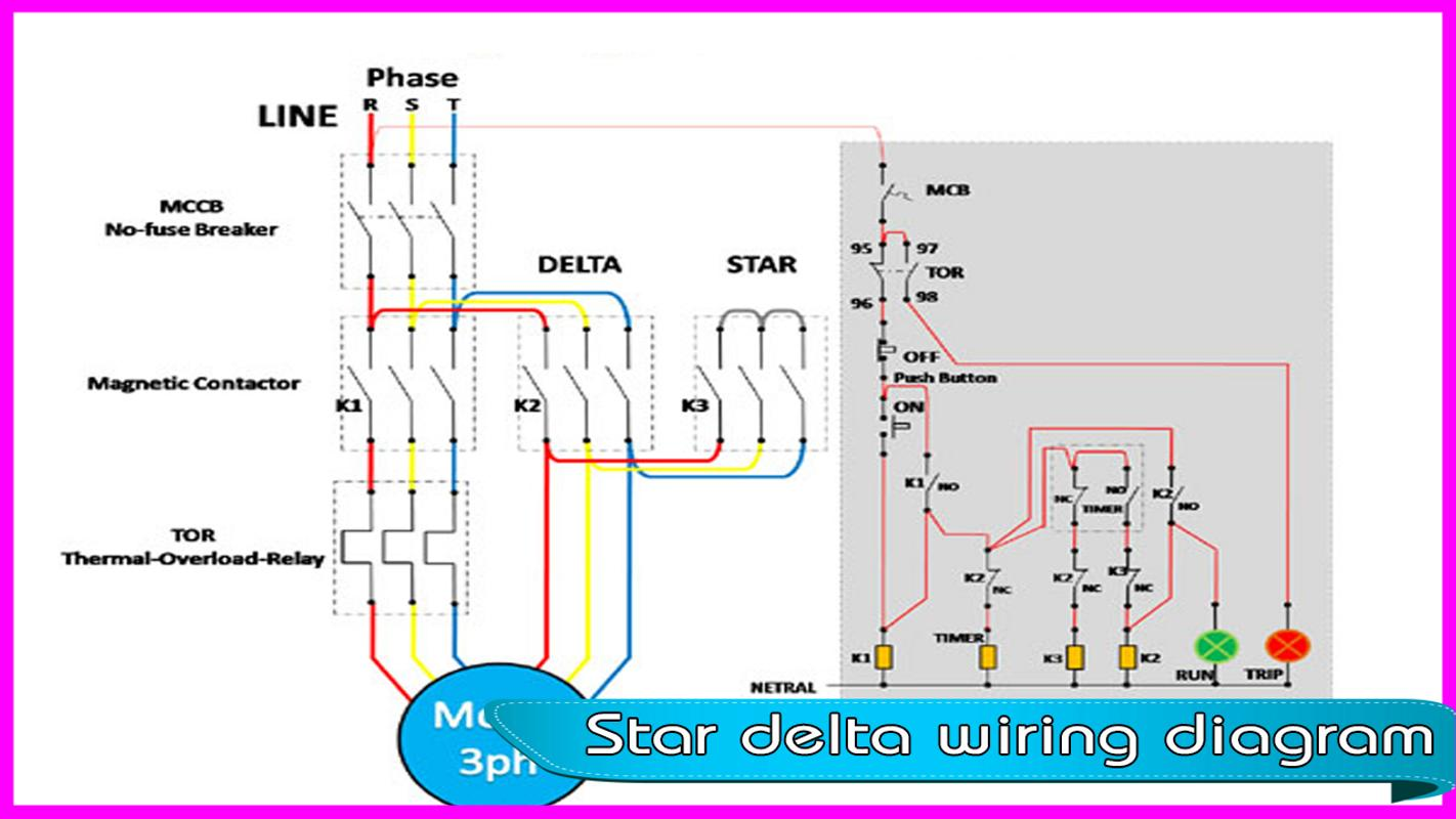 star delta wiring diagram for android apk download. Black Bedroom Furniture Sets. Home Design Ideas