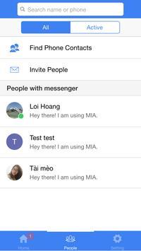 Messenger Ionic screenshot 1