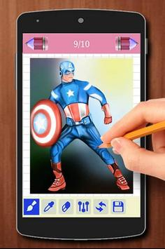 Learn to Draw the Avengers Characters apk screenshot