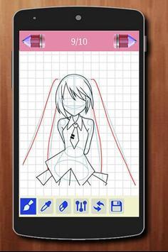 Learn to Draw Anime Manga Characters apk screenshot