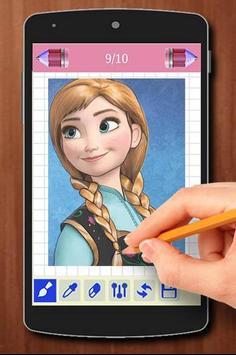 Learn to Draw Elsa Frozen Characters apk screenshot