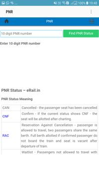 PNR & LIVE TRAIN STATUS screenshot 1