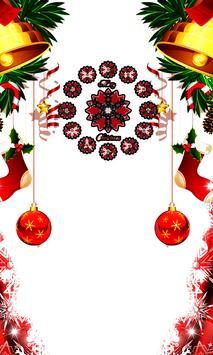 CHRISTMAS CLOCK WALLPAPER poster