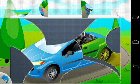 Puzzle Cars for kids apk screenshot