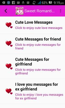 Sweet Romantic Love Sms and messages poster