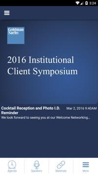 Institutional Client Symposium poster