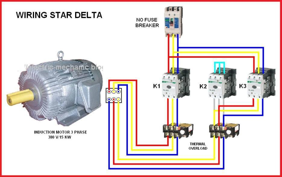 Electric Motor Star Delta Wiring Diagram. . Wiring Diagram on