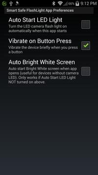 Smart Safe LED Flashlight Free apk screenshot