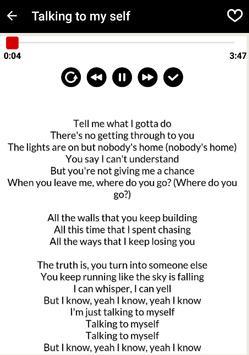 Lagu Linkin Park talking to myself full lirik apk screenshot