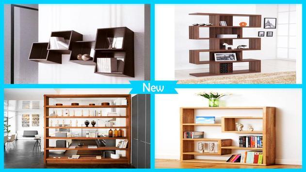 Modern Bookshelves Designs poster