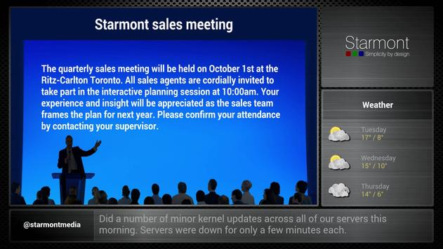 Digital Signage by Starmont apk screenshot