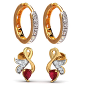 Ear wearing jewellery Design icon
