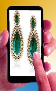 Ear wearing jewellery Design poster
