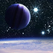 stars and planets wallpaper icon