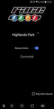 RaceSafe Alerts screenshot 1