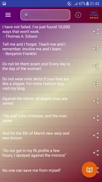 Quotes, Sayings & Status Collection screenshot 2
