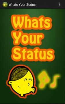 Whats Your Status poster
