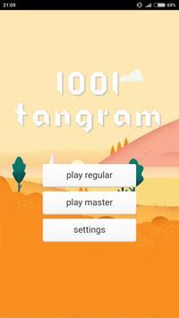 1001 Tangram puzzles game poster