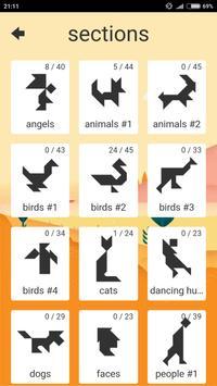 1001 Tangram puzzles game apk screenshot