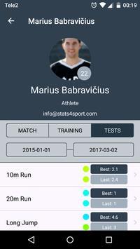 Stats4Sport 2.0 apk screenshot