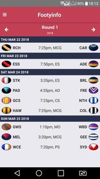 AFL - Footyinfo Live Scores poster