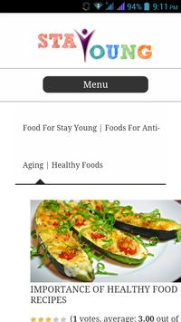 Stay Young & Healthy apk screenshot