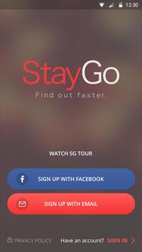 StayGo - Find out faster الملصق