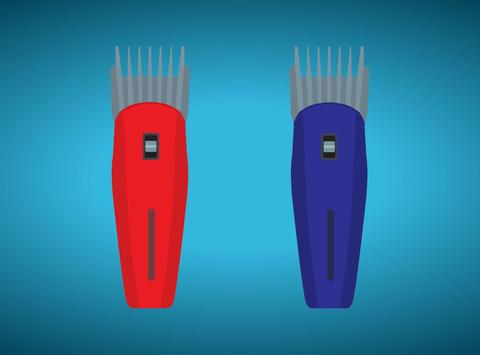 Color Clippers - hair trimmer poster