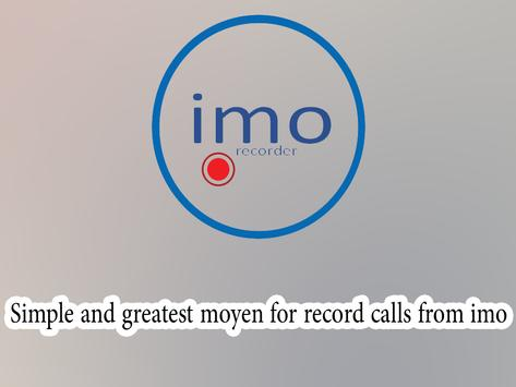 Calls Recorders For Imo apk screenshot