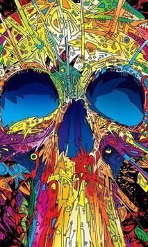 Halloween Pixel Skull Wallpapers poster