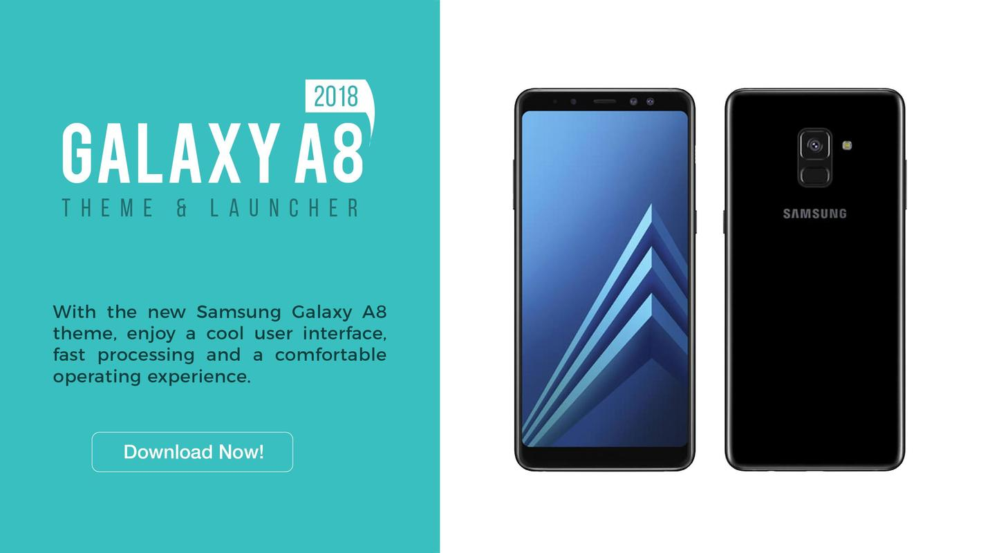 Theme For Galaxy A8 2018 Icon Pack Wallpaper Fur Android Apk