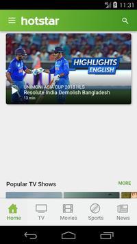 Hotstar TV - Watch Hotstar Asia Cup 2018 poster