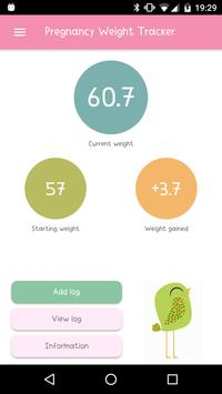 Pregnancy Weight Tracker poster