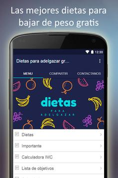 Dietas para adelgazar gratis en español apk screenshot